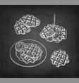 chalk sketch waffles vector image