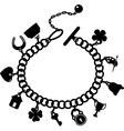 Charm bracelet vector image vector image