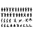 children basic poses actions postures feelings vector image