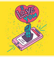 creative romantic writes about love vector image vector image