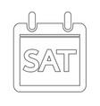 day calendar icon sign design style vector image