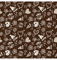 Doodle floral seamless pattern sepia dark and vector image vector image