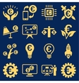 Euro banking business and service tools icons vector image vector image