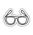 eye glasses style icon vector image