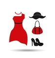feminine fashion design vector image vector image
