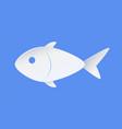 fish sample icon symbol of nautical marine life vector image vector image
