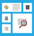 flat icon gain set of scan bank interchange and vector image vector image