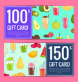 flat smoothie discount gift templates vector image vector image