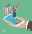 foreign language online flat isometric vector image