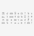 furniture line icons set collection black vector image