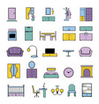 furniture seamless pattern furnishings vector image vector image