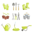 Gardening Equipment Set Of Icons vector image