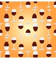 glasses with red wine seamless pattern vector image vector image