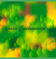 green environment vector image