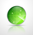 green radar vector image