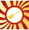 Guitar abstract icon vector image
