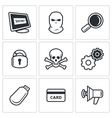 Hacker icons set vector image vector image