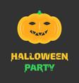 halloween pumkin vector image