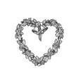 heart shaped wreath vector image