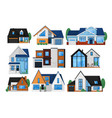house exterior front set vector image vector image