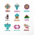 India - set of Indian icons Ganesh elephant vector image vector image