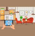 interior design service flat vector image