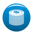investment coin icon blue vector image vector image