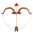isolated cupid bow and arrow valentine day vector image