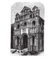 le puy cathedral facade or west front vintage vector image vector image