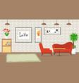 living room design flat vector image