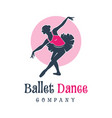 logo design people dancing ballet vector image vector image