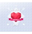 Love symbol Low-poly colorful style Red origami vector image vector image