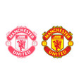 manchester united football or soccer club logo vector image vector image