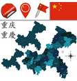 map of chongqing with divisions vector image vector image