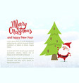 merry christmas and happy new year character vector image vector image