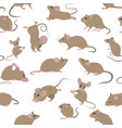 mice seamless pattern mouse yoga poses and vector image vector image