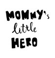 mommy lettering vector image vector image