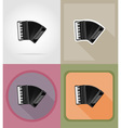 music items and equipment flat icons 09 vector image