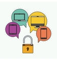 Network electronic devices communication vector image