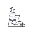 nuclear power plant line icon concept nuclear vector image vector image