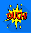 ouch icon pop art style vector image