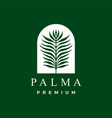 palm leaf logo icon vector image