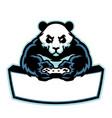 panda mascot logo gaming esport vector image vector image