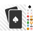 peaks playing cards icon with bonus vector image vector image