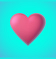 red heart on minty green background for vector image