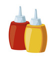 restaurant sauces bottles vector image vector image