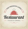 retro restaurant logo design vector image vector image