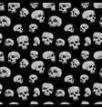 seamless skulls black vector image