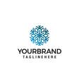 snowflake logo design concept template vector image
