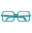 square frame glasses icon vector image